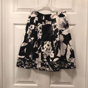 Black and White knee length skirt